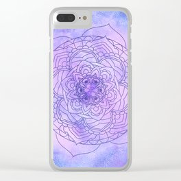 Waterolor Mandala FLower Clear iPhone Case