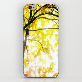 Lovely Autumn Leaves Tree Branch Nature - Canvas Texture iPhone Skin
