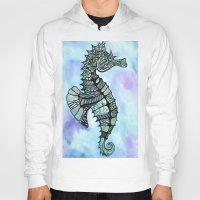 tatoo Hoodies featuring Tatoo Seahorse by PepperDsArt