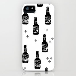 There's always hope beer bottle hop love monochrome iPhone Case