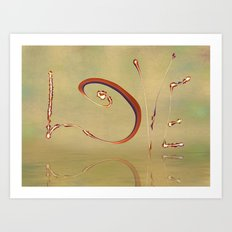 LOVE Texture Art Print