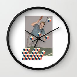 The tabletennis player Wall Clock