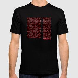 THANK YOU AMERICA Type Design T-shirt