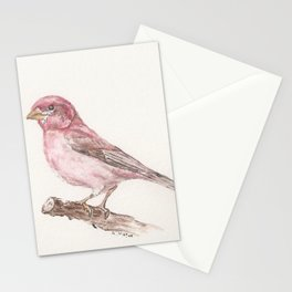Purple Finch Stationery Cards