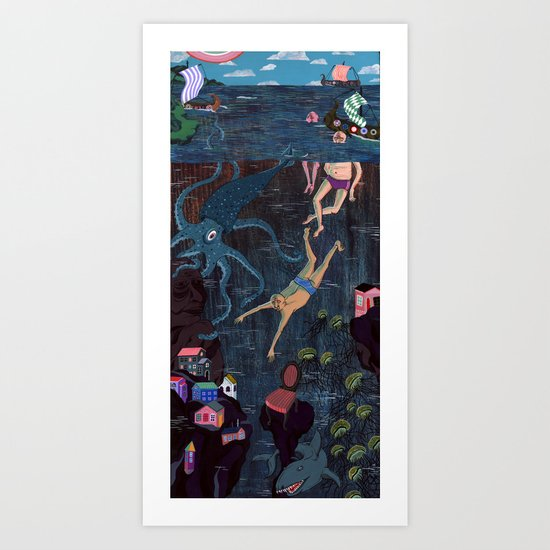 Swim Meet Art Print