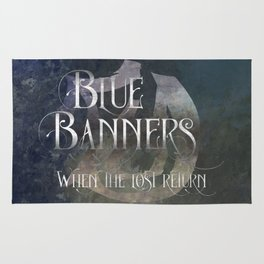 BLUE BANNERS when the lost return. Shadowhunter Children's Rhyme. Rug