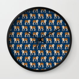 English Bulldog skateboard funny pet portrait cute gift for dog person dog lover bulldog owner gifts Wall Clock