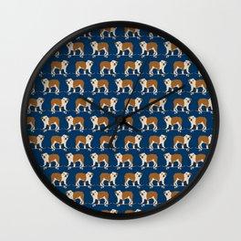 English Bulldog skateboard funny pet portrait cute gift for dog person dog lover bulldog owner gifts Wall Clock