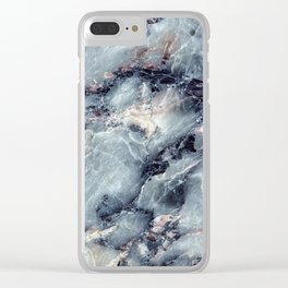 Blue Bayou Marble Clear iPhone Case