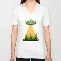 i want to believe V-neck T-shirts featuring I Want To Believe by molmcintosh