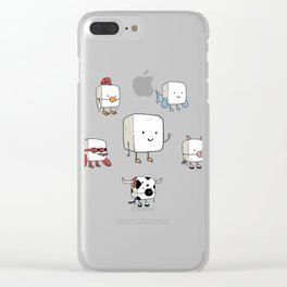 Tofu, Food's Master of Disguise Clear iPhone Case