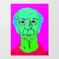 larry david Canvas Prints featuring Larry David 5 by Alyssa Underwood Contemporary Art