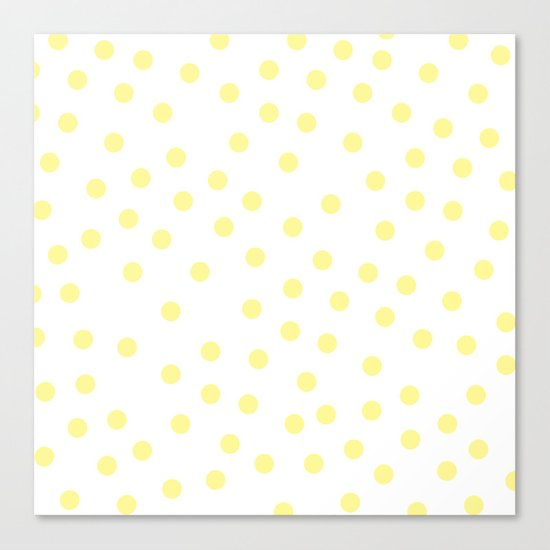 Simply Dots in Pastel Yellow Canvas Print