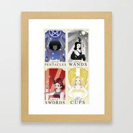 Drag Queen Tarot Cards 4 Set Framed Art Print