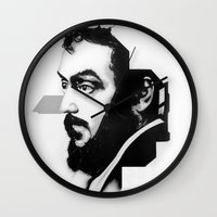 stanley kubrick Wall Clocks featuring STANLEY KUBRICK by A. Dee