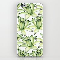 succulents iPhone & iPod Skins featuring Succulents by Julia Badeeva
