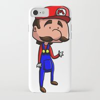 mario bros iPhone & iPod Cases featuring Mario - Super Mario Bros by Dorian Vincenot