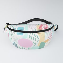 Abstract Nature - Colourful Doodle Pattern 3 Fanny Pack