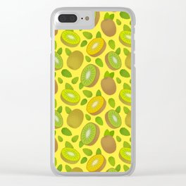 Kiwifruit Pattern Yellow Clear iPhone Case