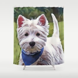 The West Highland Terrier Shower Curtain