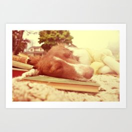 light summer reading Art Print