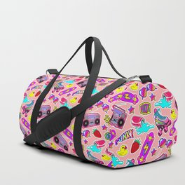 Back to the nineties! Peach Duffle Bag