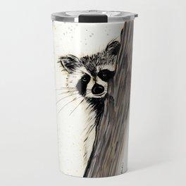 Rocky Raccoon - animal watercolor painting Travel Mug
