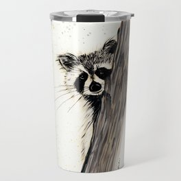 Rocky Raccoon - animal watercolor painting Travel Mug