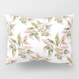 Triostar Stromanthe Watercolour Pink Leaves  Pillow Sham