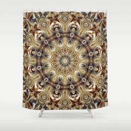 Flower Of Life Mandala (Terra) Shower Curtain