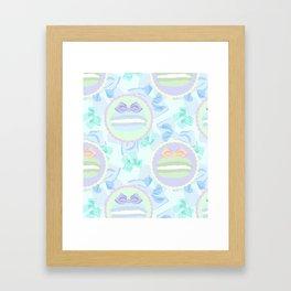 Grande Macarons & Bows Framed Art Print