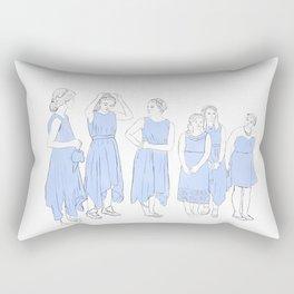 Bridesmaids (blue) Rectangular Pillow