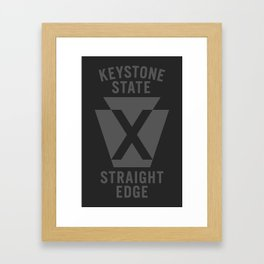 Keystone State Straight Edge Framed Art Print
