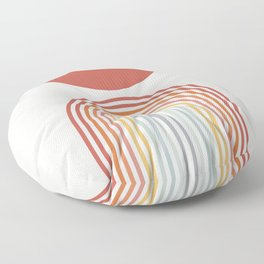 Minimalist lines and shapes no1 Floor Pillow