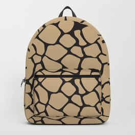 Black and Tan Rock Pattern Backpack