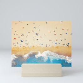 Beach Colors | Aerial Drone Photography  Mini Art Print