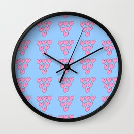 heart and blue 3 -love,romantism,romantic,cute,beauty,tender, tenderness Wall Clock