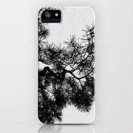 Pine Tree Black & White iPhone Case
