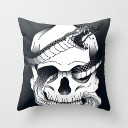 Invidia (Envy) - Seventh of the Seven Deadly Sins - Black Throw Pillow