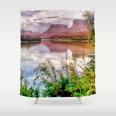 Colorado River at Moab Shower Curtain