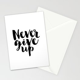 Inspirational Print Printable Quotes Never Give Up Typography Print Home Decor Motivational Wall Art Stationery Cards