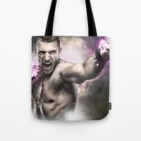 street fighter Tote Bags featuring Street Fighter by Apothec