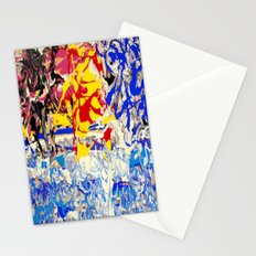 Abstract painting  - Sunset over The Sea Stationery Cards