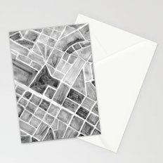 city plan Stationery Cards