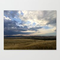 montana Canvas Prints featuring Montana by Ruby Love