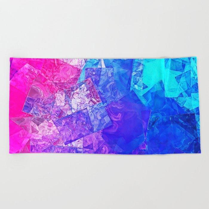 Textured Paper Overlay Beach Towel