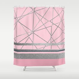 Silverdo: Blush Pink Shower Curtain