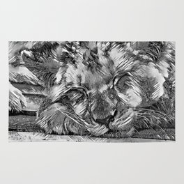 AnimalArtBW_Lion_20170612_by_JAMColorsSpecial Rug
