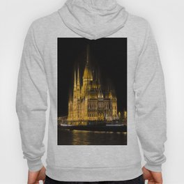 Budapest Parliament At Night Hoody