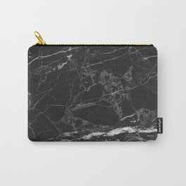 Black Marble Carry-All Pouch